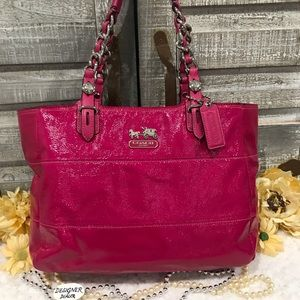 COACH Tribeca Patent Leather Tote Pink GUC!